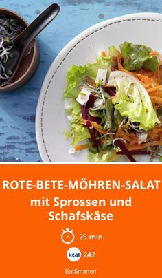 Rote-Bete-Möhren-Salat - mit Sprossen und Schafskäse - smarter - Kalorien: 242 Kcal - Zeit: 25 Min. | eatsmarter.de