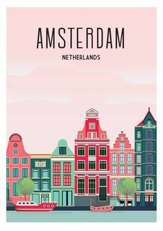 The post Amsterdam travel poster work art netherlands poster print city Canvas Print by Caravanstudio appeared first on Italy Moda. Poster City, Poster Wall, Poster Prints, Amsterdam Art, Amsterdam Travel, Amsterdam Netherlands, Vintage Travel Posters, Poster Vintage, Buch Design