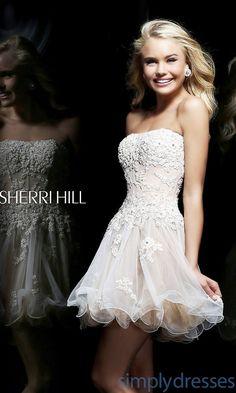 Dress, Short Sherri Hill Dress with Corset Bodice - Simply Dresses