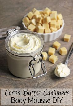 Cocoa butter is a vegetable fat extracted from the cocoa bean. It naturally has a warm, chocolatey aroma and a firm, brittle texture. Learn more about cocoa butter here. I was inspired by the decadent