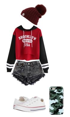"""""""stay on home"""" by foxdixongrimes on Polyvore featuring Converse and Moncler"""