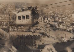 the aerial railway(cableway?)in Sibuya!,Tokyo 1951 @nifty:デイリーポータルZ:渋谷駅屋上に昔、ロープウェイが通っていた