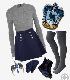 """""""Ravenclaw"""" featuring Tom Ford, Tommy Hilfiger and Hinge Nerd Fashion, Fandom Fashion, Teen Fashion Outfits, Mode Outfits, Girl Outfits, Fashion Looks, Disney Fashion, School Outfits, School Fashion"""