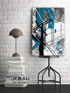 Urban Grunge Blue Industrial Abstract Wall Art | Fine Art Metal Print | Modern Mixed Media Artwork by UrbanArtDist on Etsy https://www.etsy.com/listing/504106834/urban-grunge-blue-industrial-abstract