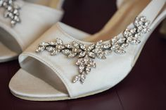 Detail photo of the brides shoes before montauk wedding