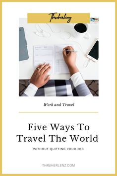 It may sound crazy but it is absolutely possible to travel the world and work a full-time job. I do it and so can you! I have 5 tips that will help you to work and travel.  You will no longer ask how to travel with a full-time job!  Repin and get these tips so that you can schedule your next trip on your day off! And no, you don't just have to work a remote job to travel.