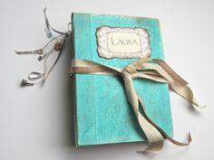 Sea Breeze wedding guest book, Fairytale wedding photo album, baby album. 22x16 cm - Handmade - Memories Bookart - Shop Seven Memories