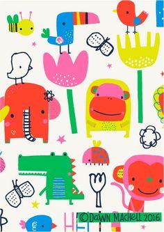 pop-i-cok Mais Pattern Illustration, Children's Book Illustration, Kids Icon, Kids Patterns, Wallpaper Iphone Cute, Kids Prints, Cute Characters, Pattern Wallpaper, Art Lessons