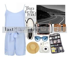 """""""Road Trip"""" by sarelle-20 ❤ liked on Polyvore featuring Lanvin, Improvements, Nine West, Mosevic, Fujifilm, travel, trip, roadtrip and lastminutetrip"""