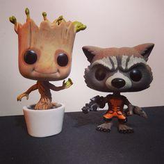 Funko Pop Baby Groot y Rocket Racoon