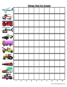 Road trip - kids graph vehicles they see along the way