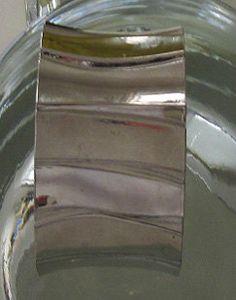 SALE Vintage 1970s Silver Metal Womens Hinged Bracelet Cuff