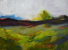 "Saatchi Art Artist rebecca klementovich; Painting, ""Mountain Foothills"" #art"