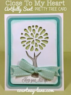 Close To My Heart Artfully Sent Cricut Cartridge Pretty Tree card
