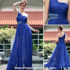 Blue Evening Gown -Chiffon One Shoulder $236.99 (was $280) Click here to see more details http://shoppingononline.com/custom-made-dresses/blue-evening-gown-chiffon-one-shoulder.html #BlueEveningGown #ChiffonEveningGown #BlueChiffonEveningGown #OneShoulderEveningGown #BlueDress #CustomMadeDress