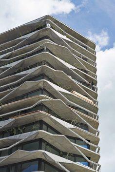 Climbing plants and asymmetric balconies surround Buchner Bründler's Garden Tower