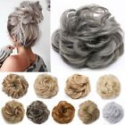Details about Real Natural Curly Messy Bun Hair Piece Scrunchie Hair Extensions as Human Grey - Jeanette Yablonsky - Hair Scrunchie Ponytail Hair Piece, Curly Hair Pieces, Clip In Hair Pieces, Ponytail Scrunchie, Extensions Blondes, Fake Hair Extensions, Messy Bun Updo, Synthetic Curly Hair, Different Braids