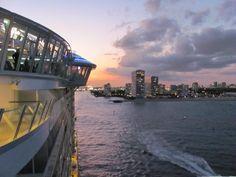 L'Allure of the seas quitte Fort Lauderdale (Janvier 2011)