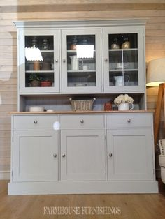 New Solid Pine Welsh Dresser Kitchen Unit Shabby Chic Painted Farrow&B Pine Kitchen, Kitchen Units, Kitchen Storage, Storage Spaces, Kitchen Cabinets, Pine Dresser, Welsh Dresser, Kitchen Dresser, Kitchen Furniture