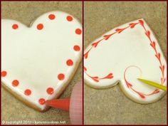 valentines day cookies I cant believe its already January EIGHTH! How did that happen Valentines day is coming right up, so for my first real post, I have some fun cookies for you to Cookies Cupcake, Fancy Cookies, Cookie Icing, Heart Cookies, Iced Cookies, Cute Cookies, Royal Icing Cookies, Cookies Et Biscuits, Sugar Cookies