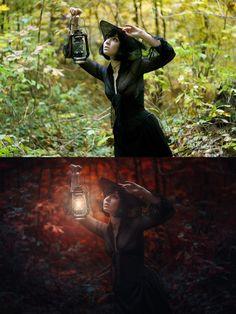 До и после - фотошоп