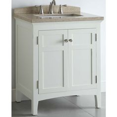 """allen + roth 30"""" White Windelton Bath Vanity with Top - $379, Lowes"""