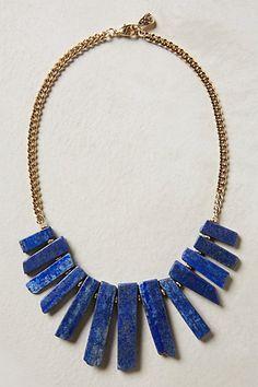 #Anthropologie Meteora Necklace in lapis blue - LOVE