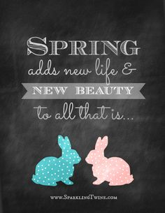 Spring adds new life & new beauty to all that is ... from Sparkling Twine | part of the Spring Printables collection at SimplyFreshVintage.com