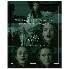 """Fine, I suppose if this is worthless, There's no reason to keep it ~ Elizabeth Swann""""//the look on her face, lol😏 Disney Dream, Disney Love, Disney And Dreamworks, Disney Pixar, Captain Jack Sparrow, Pirate Life, Disney Memes, Pirates Of The Caribbean, Book Fandoms"""