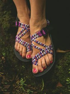 Cute Chaco #sandals. Chaco also makes great comfortable #shoes! Find reviews at www.barkingdogsho...