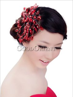 Bridal hair accessories with red crystal http://www.goodorient.com/Bridal_hair_accessories_with_red_crystal_P37129