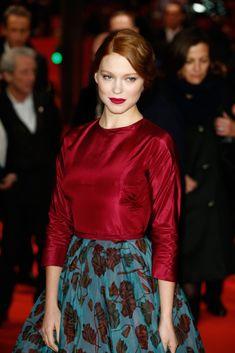 Lea Seydoux // red lips