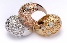 Gold and diamond rings by Ramon