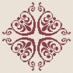 Biscornu Cross Stitch, Cross Stitch Heart, Cross Stitch Borders, Cross Stitch Designs, Cross Stitching, Cross Stitch Patterns, Blackwork Embroidery, Cross Stitch Embroidery, Hand Embroidery
