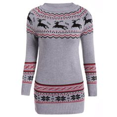 Christmas Reindeer Pattern Tunic Raglan Sleeve Sweater ($17) ❤ liked on Polyvore featuring tops, sweaters, christmas pattern sweater, patterned tops, raglan top, patterned sweaters and raglan sweater