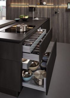 Fantastic modern kitchen room are available on our web pages. Read more and you wont be sorry you did. Kitchen Pantry Design, Luxury Kitchen Design, Contemporary Kitchen Design, Best Kitchen Designs, Home Decor Kitchen, Interior Design Kitchen, Kitchen Ideas, Kitchen Inspiration, Kitchen Organization