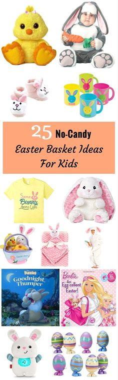 Bring smiles to their faces and giggles of glee by having the Easter Bunny deliver these non candy Easter basket ideas. Easter Deserts, Easter Baskets, Gift Baskets, Mermaid Invitations, Easter Printables, Easter Candy, Easter Holidays, Easter Crafts For Kids, Basket Ideas