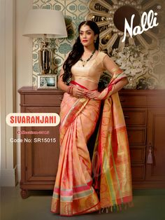 Code: SR15015 - Kanchipuram Silk Saree To know more about this product contact our eshop team at eshop@nalli.com. Indian Inspired Fashion, Ethnic Outfits, Silk Sarees, Bollywood, Sari, Style Inspiration, My Style, Weight Loss, Collection