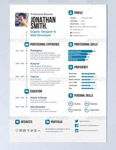 infographic resume template word