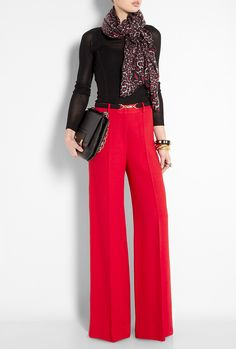 Those trousers! Work chic.