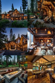 Dream house cabin style homes, log homes, house viewing, mountain house plans, Cabin Style Homes, Log Cabin Homes, Log Cabins, Dream House Exterior, Dream House Plans, Cabins In The Woods, House In The Woods, Dream Home Design, House Design