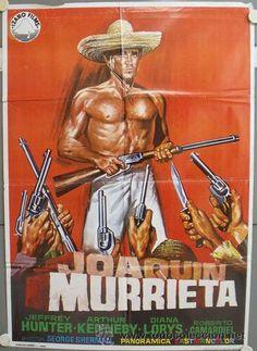 NT57 JOAQUIN MURRIETA JEFFREY HUNTER SPAGHETTI POSTER ORIGINAL 70X100 ESPAÑOL - Foto 1