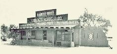 A 1940s photograph of the Hubbell Trading Post on Route 66 in Winslow, AZ