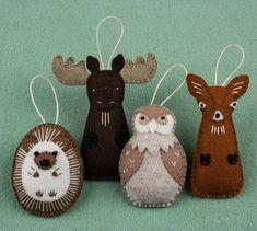 2814 best Felt Ornaments images on Pinterest   Christmas crafts ...
