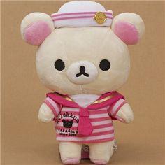 Rilakkuma plush toy white bear as sailor kawaii