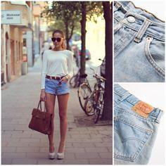Light Blue Shorts, Love Clothing, Levi Shorts, Vintage Levis, Denim Skirt, Mom Jeans, Hair Styles, Skirts, Closet