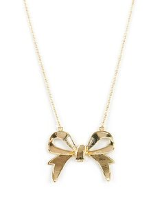 Oversize Bow Chain Necklace---- I love bows!