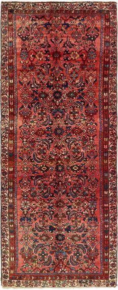 Red 3' 6 x 9' Hossainabad Persian Runner Rug | Persian Rugs | eSaleRugs