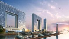 """Chinese office buildings proclaim city's """"Number 1″ status"""