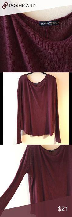 Brandy Melville slouchy maroon sweater brandy Melville slouchy maroon sweater. One size Brandy Melville Sweaters Crew & Scoop Necks